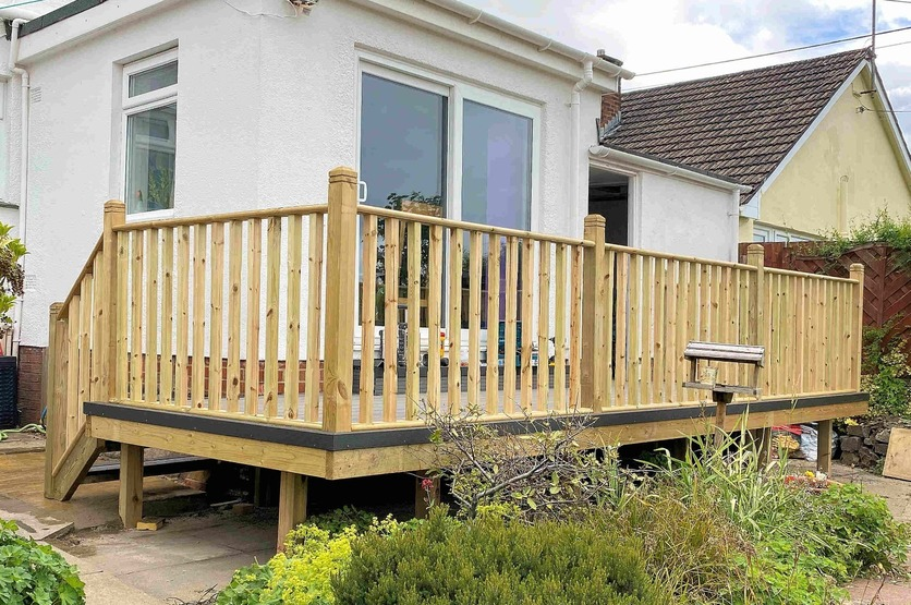Decking. Barnstaple North Devon