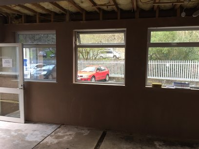 New skimmed walls in Devon
