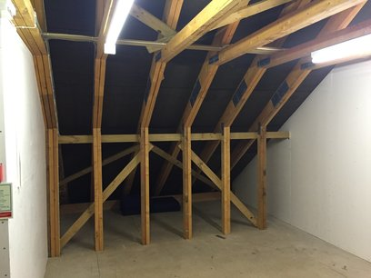 Loft truss modifications in accordance with structural engineers to open up as much space as possible by MJS Building Maintenance Ltd