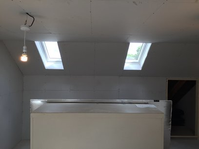 Velux windows were boarded with a splayed opening to enhance light in Devon