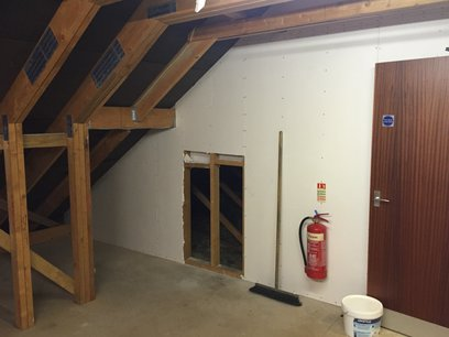 Stripped out loft of original insulation and boarded floor Barnstaple North Devon