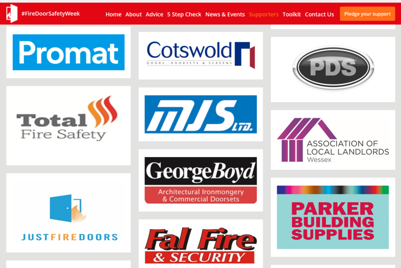 MJS Building Maintenance Ltd support for Fire Door Safety Week