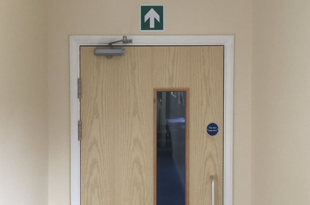 Commercial fire door installation North Devon