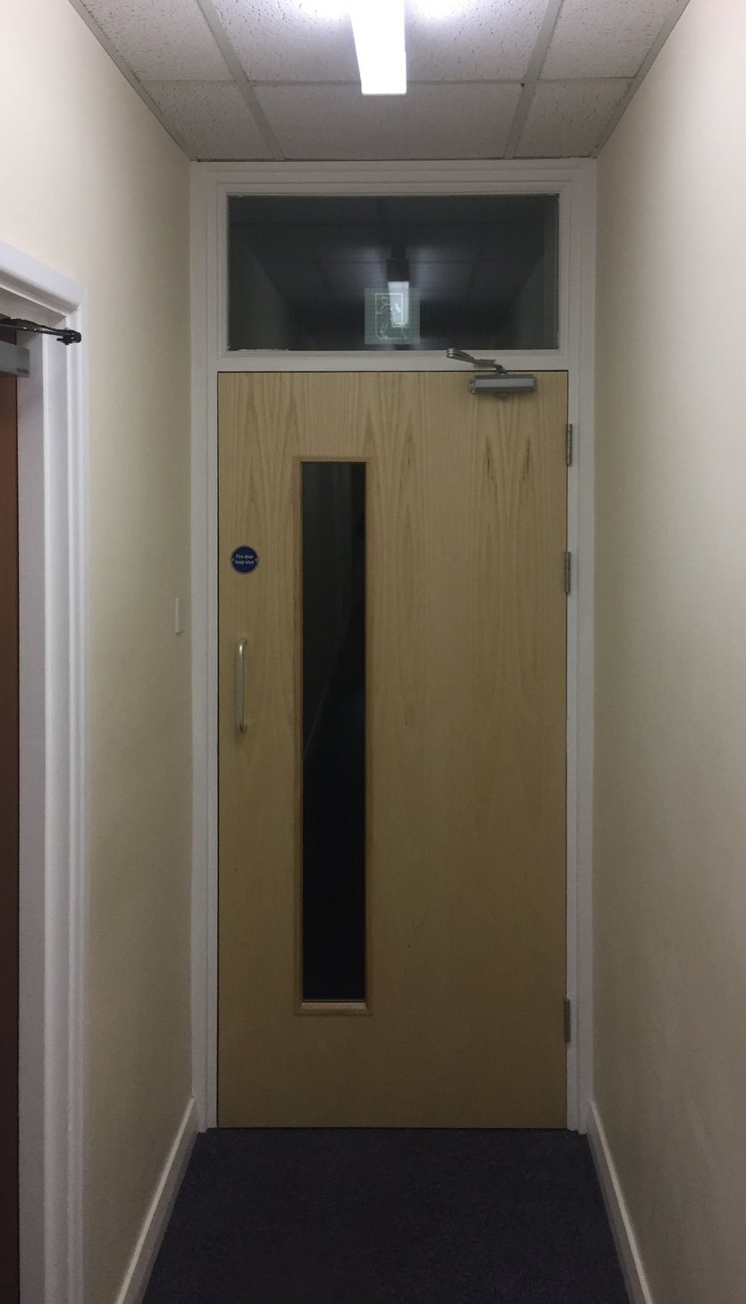 All doors installed to current regulations, improving the safety aspect of the door and the aesthetic value of the doors modernized the corridor. in North Devon