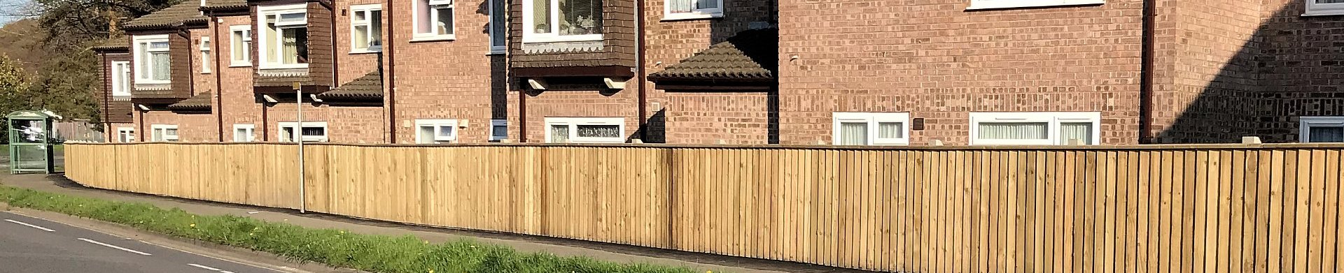 Fencing built and installed by MJS Building and Maintenance in Devon