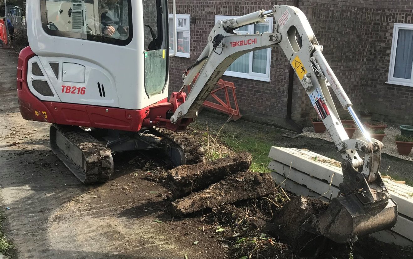 Mini excavator Barnstaple for local project