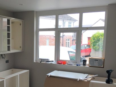 Units for sink and worktop part of kitchen project in Barnstaple
