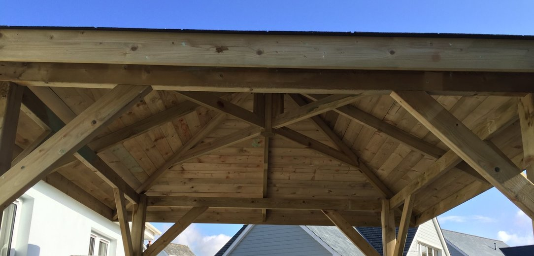 We were asked to design and build a gazebo for a local home in Barnstaple North Devon.