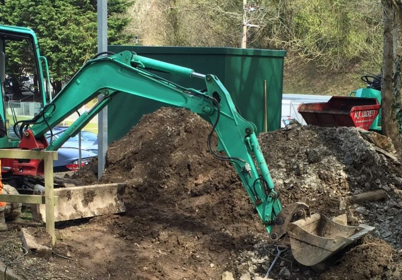 Groundworks for local flood prevention scheme North Devon
