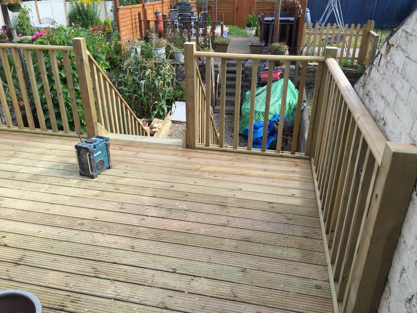 Decking completed a new outlook and sun trap area.