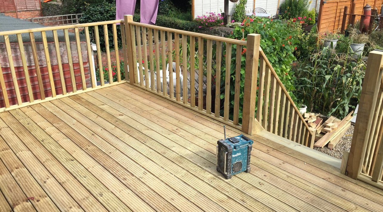 Decking all works carried out and managed built and designed by MJS Building Maintenance Ltd.