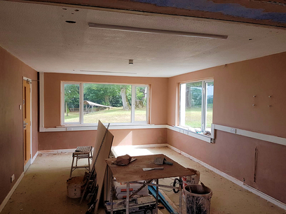 All walls were plasterboarded and joints taped. in North Devon