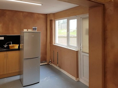 Plastering complete ready for painting and decorating school in North Devon