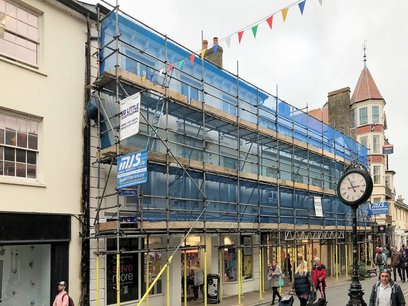 Barnstaple High Street redecoration work starts after the September 2018 Carnival and Fair