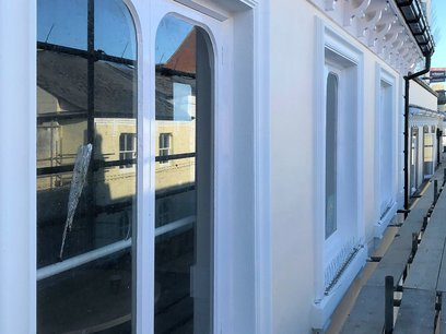 Window frames refurbished and painted