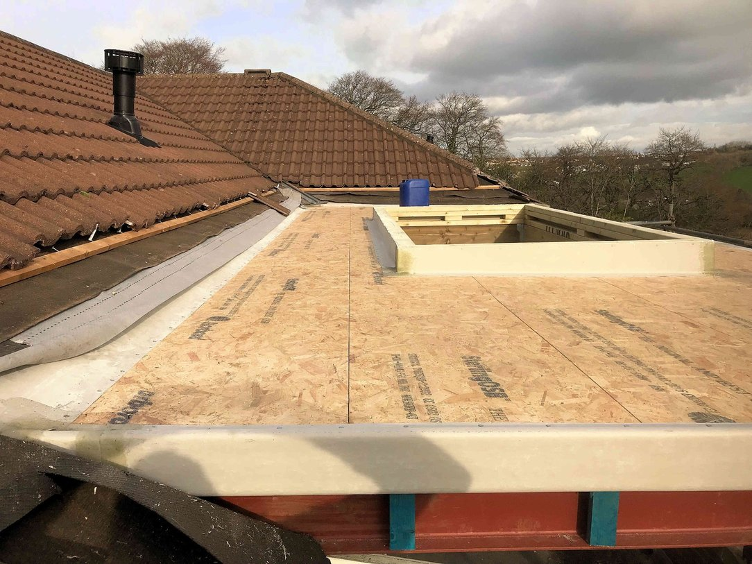 Roof boarding for new summer room roof Bideford North Devon