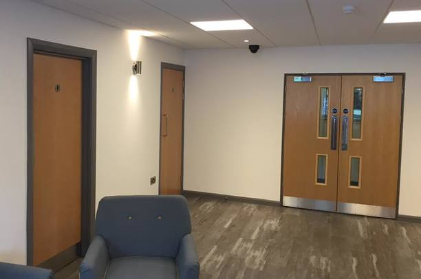 FD30 Fire Doors overhead closer with intumescent strip North Devon