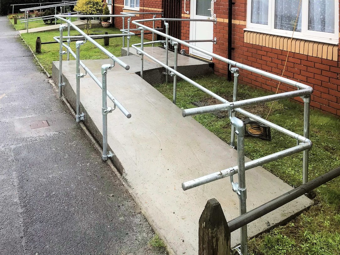 Assisted access ramp with rails installed Barnstaple North Devon