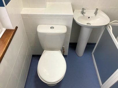Low level suite with close coupled toilet allowing extra space, Barnstaple North Devon