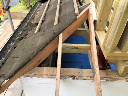 Modification of small hip roof to keep the front of the building in keeping. Part of house extension in Barnstaple North Devon